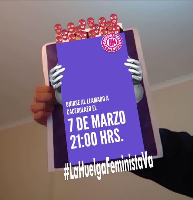Lentes Violeta 8M, la app de realidad aumentada para promover la Huelga Feminista